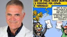 La vignetta postata da Zangrillo sui morti di Covid indigna il web