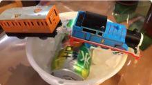 【新片速報】日本網民DIY急凍裝置 Thomas玩具車冷凍飲品