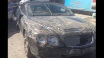 $122,000 Bentley Wrecked in Car Wash Crash