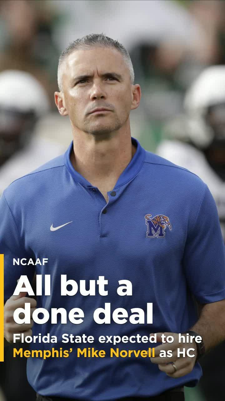 Memphis Mike Norvell Expected To Be Named Next Florida State Head Coach