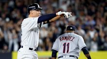 Aaron Judge gets revenge against Trevor Bauer with first hit of ALDS