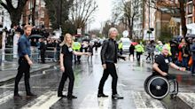 Prince Harry and Jon Bon Jovi Recreate The Beatles' Famous Abbey Road Crosswalk Photo