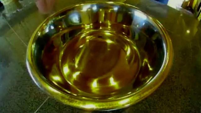 Shiny dog bowl blamed for starting house fire