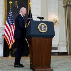 Biden news – live: President derides Trump on infrastructure, amid fury over Florida elections bill