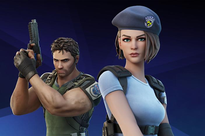 Resident Evil's Chris Redfield and Jill Valentine come to 'Fortnite'