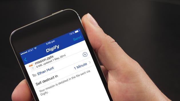 Digify helps you protect your data by sending self-destructing files