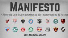 Manifesto de 16 clubes da Série A apoia 'MP de direitos de transmissão'