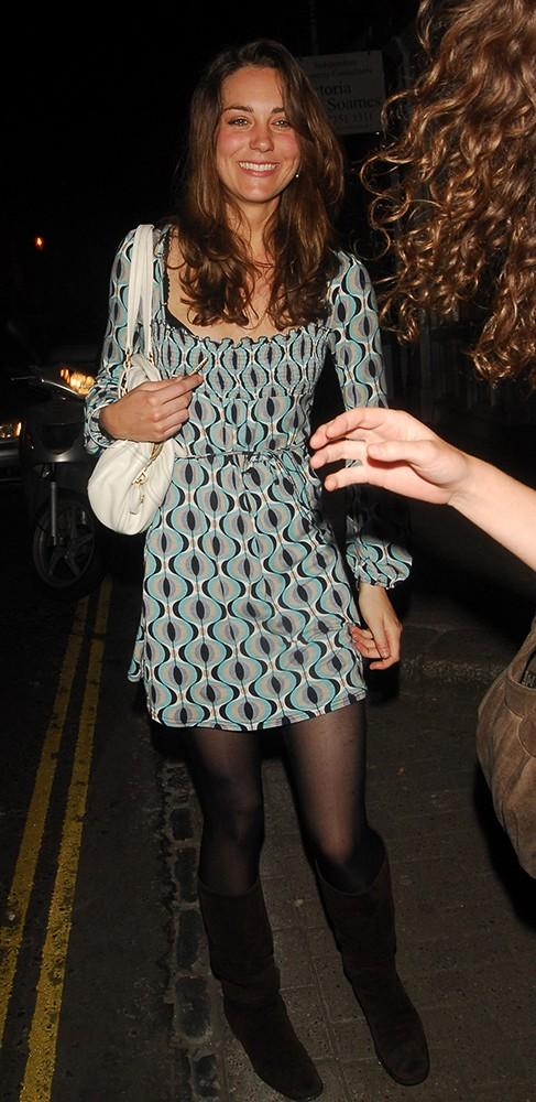 Kate wore a 60s-inspired dress out and about in London.