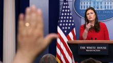 Sarah Huckabee Sanders Swears She Didn't Share 'Fake Pie' Picture In Exchange With Reporter