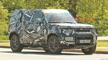 2020 Land Rover Defender hybrid spied with hidden winch