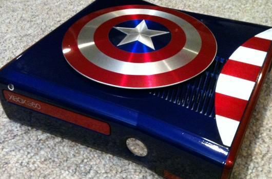 Captain America Xbox 360 mod inspired by The Avengers assembled, photographed