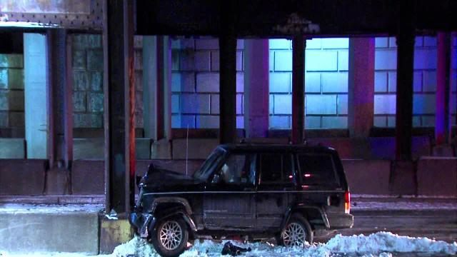Raw: East Cleveland crash
