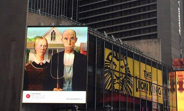 US billboards to display interactive paintings to teach you art history