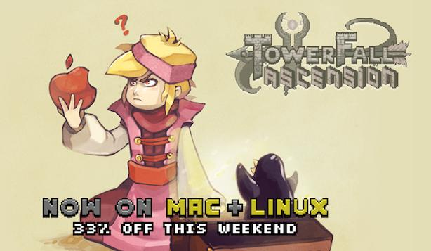 Towerfall lets arrows sail on Mac, Linux