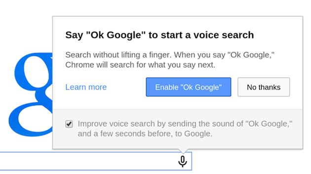 Chrome's 'OK Google' voice search rolls out to all