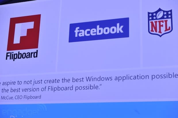 Fresh Flipboard, Facebook and NFL Fantasy Football apps coming to Windows 8 (update: Flipboard video)