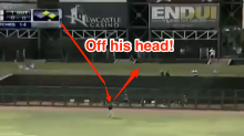 Dodgers prospect hits wacky home run that bounces off head of outfielder and over the fence