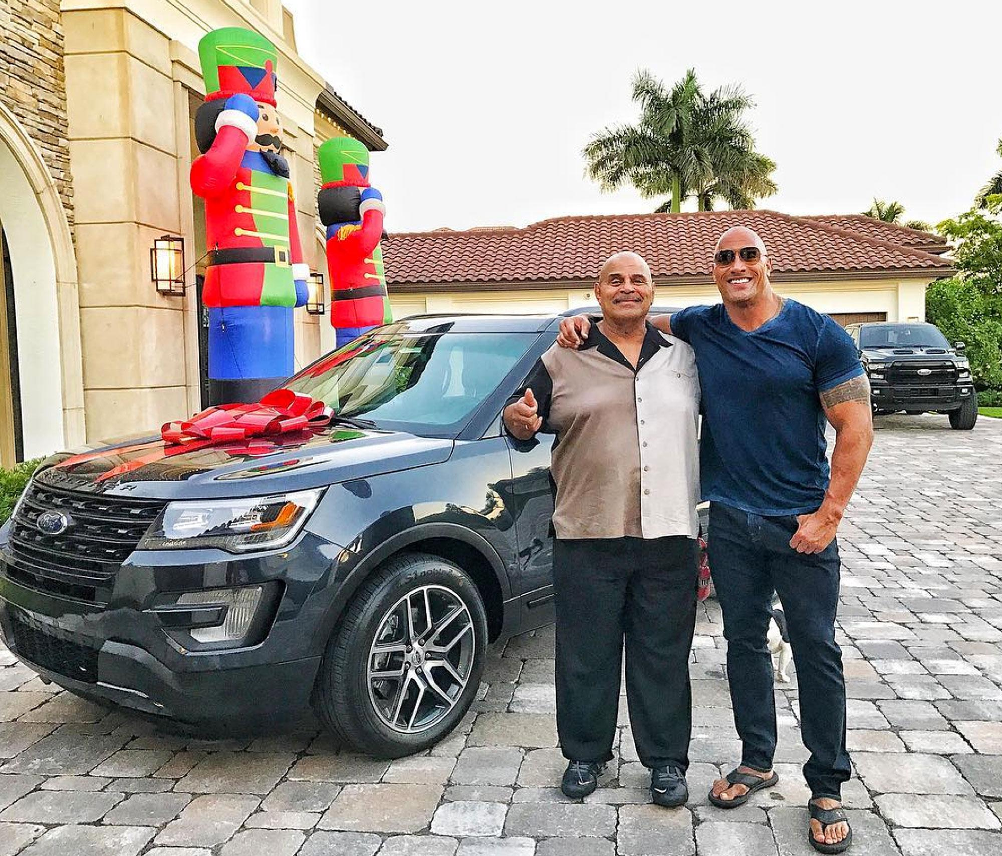 Dwayne 'The Rock' Johnson Buys His Dad a Car for Christmas and Tells Amazing Story About His Rough Childhood
