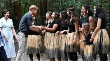 Aborigines zeigen Prinz Harry australischen Regenwald