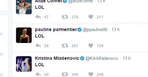 Tennis - WTF - Le forfait de Caroline Garcia provoque le LOL des autres joueuses françaises