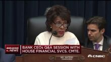 Maxine Waters presses big bank CEOs on monitoring potential Russian related accounts