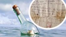 Family find washed up letter in a bottle 29 years after it was written