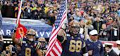 Navy guard David Forney (68). (Getty Images)