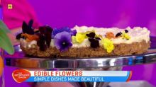 Simple dishes made beautiful with edible flowers
