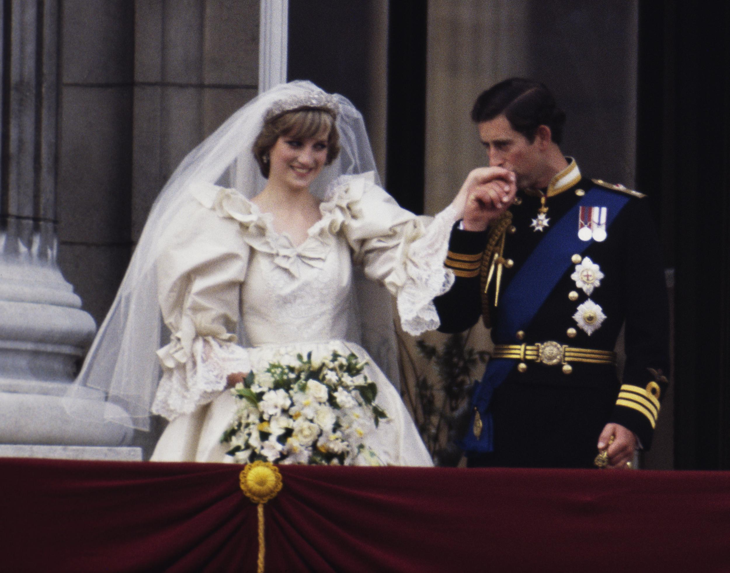 Prince Charles and Lady Diana Spencer on their wedding day.