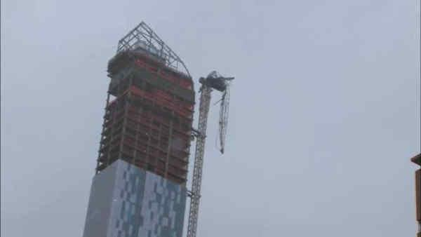 Crane damaged during Sandy causing more disruptions
