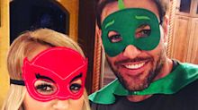 Carrie Underwood, Mike Fisher, and Son Wear Cute Superhero Masks as Part of Bedtime Routine