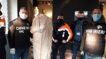Italian police officers stumble by chance on stolen Roman statue in antiques shop in Brussels