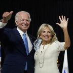 Jill Biden Keeps It Classic in Pleated White Dress & Pointy Pumps With Delicate Bow Straps