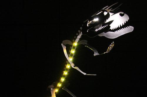 LEDSAUR Tyrannosaurus Rex desk lamp makes chewing through paperwork less monotonous