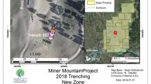 2.28% Copper with 0.8 grams/tonne Gold on Sego's Miner Mountain Project