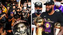 'Still not safe': Crazy scenes in LA after Lakers win NBA championship