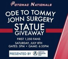 Minor league team's 'Ode to Tommy John surgery' giveaway is cut above