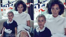 Kim Kardashian channels Jackie Kennedy Onassis on magazine cover with daughter North West