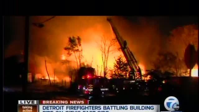 Firefighters battling 3-alarm commercial building fire