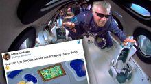 The Simpsons' unbelievable prediction about Richard Branson's space trip