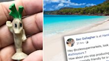 Unsettling twist after Coles Stikeez washes up on iconic Aussie beach