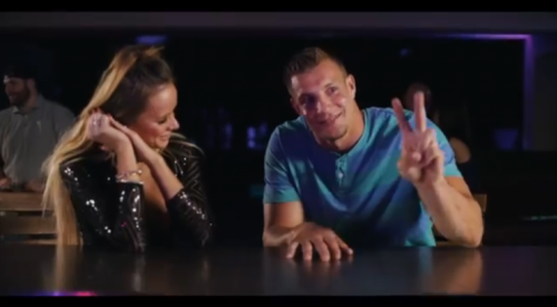 Rob Gronkowski, thespian. (via screenshot)