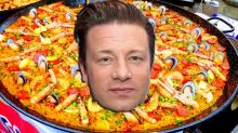 Jamie Oliver panned over 'unorthodox' paella recipe