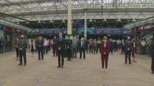 First Minister attends Edinburgh Waverley minute's silence