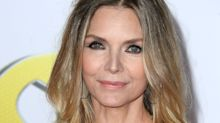 60-year-old Michelle Pfeiffer turns heads in plunging metallic jumpsuit