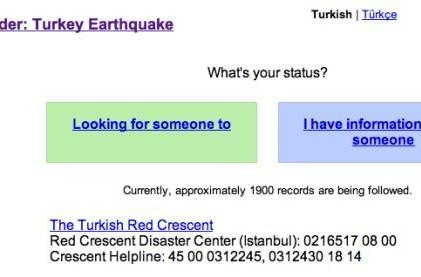 Google launches Person Finder app following earthquake in Turkey