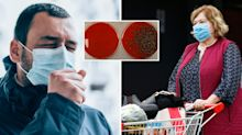 Coronavirus: Face mask test reveals how germs spread when talking to someone