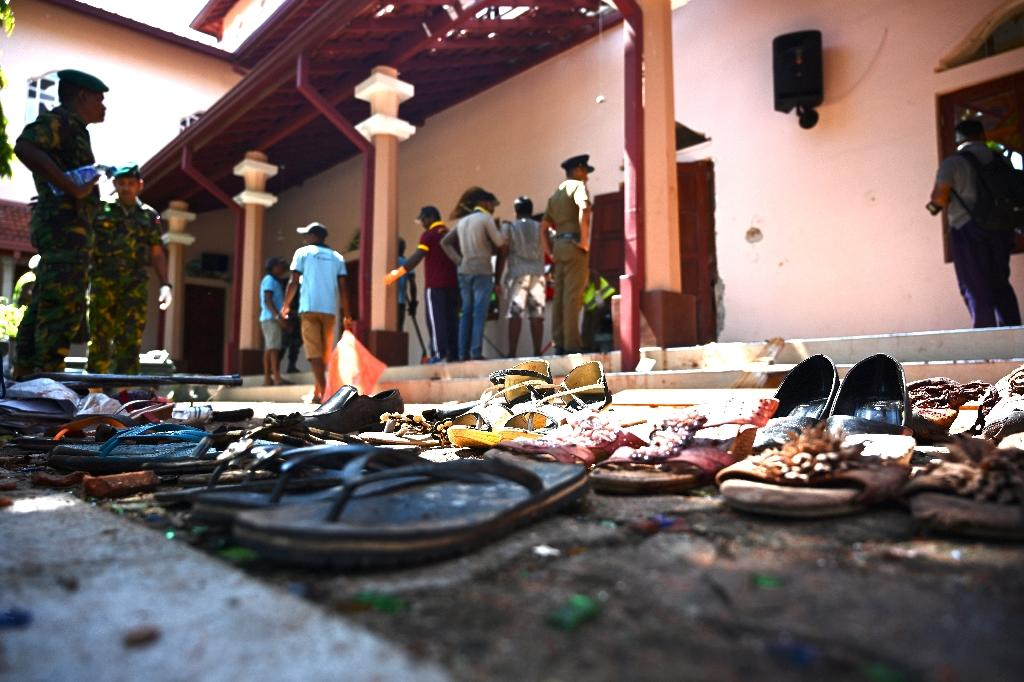 The churches targeted included St Sebastian's in Negombo, north of the capital (AFP Photo/Jewel SAMAD)