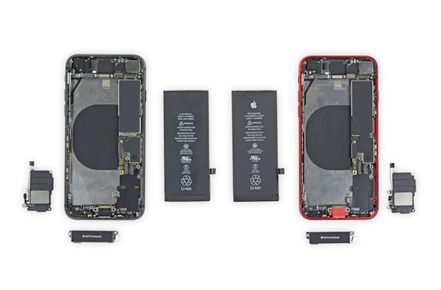 You can use some iPhone 8 parts inside an iPhone SE