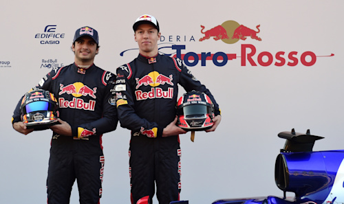 Daniil Kvyat and Carlos Sainz